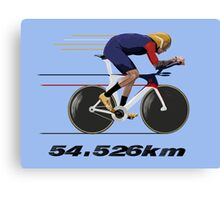 Wiggo Record Breaker Canvas Print