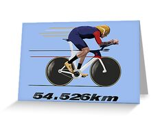 Wiggo Record Breaker Greeting Card