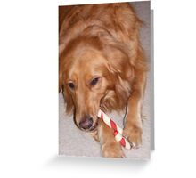 A Candy Cane From Santa Greeting Card