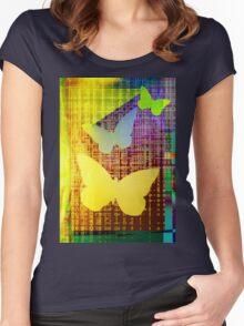 Butterflies Women's Fitted Scoop T-Shirt
