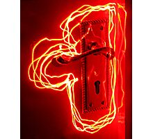 Glowing Handle Photographic Print