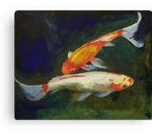 Feng Shui Koi Fish Canvas Print