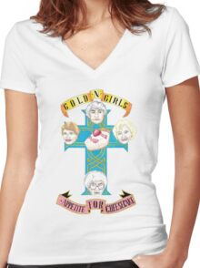 "Gold N Girls ""Appetite for Cheesecake"" Shirt Women's Fitted V-Neck T-Shirt"