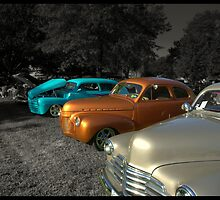 "1948 Ford, 1941 Chevrolet and 1947 Chevrolet ""Springtime at the Park"" by TeeMack"