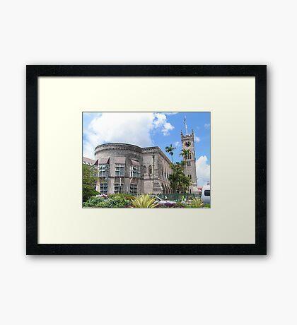 an inspiring Barbados landscape Framed Print