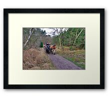 A ride through the forest Framed Print