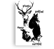 Moony Prong Padfoot Wormtail Canvas Print