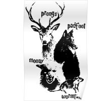 Moony Prong Padfoot Wormtail Poster