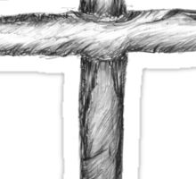 The Cross, drawn by Tony Westbrook (#2) Sticker
