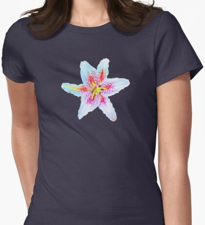 Oriental Lilly Womens Fitted T-Shirt