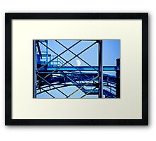 Metalwork and the Moon Framed Print