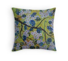 Blossom Apple-tree Branch Throw Pillow