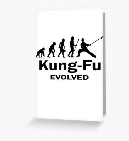 Kung- Fu Evolved Greeting Card