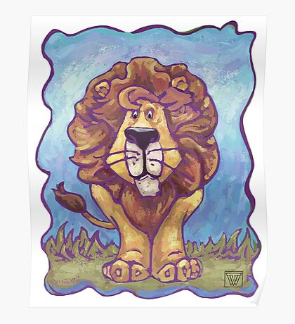 Animal Parade Lion Poster