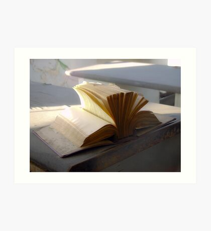 Abandoned book Art Print