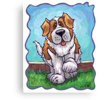 Animal Parade St. Bernard Canvas Print