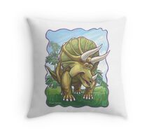 Animal Parade Triceratops Throw Pillow