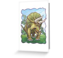 Animal Parade Triceratops Greeting Card