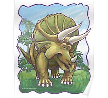 Animal Parade Triceratops Poster
