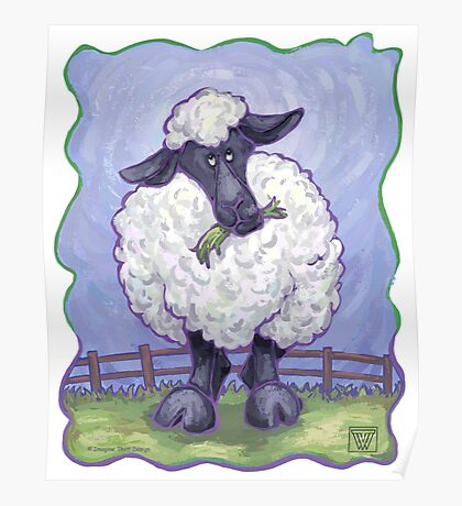 Animal Parade Sheep Poster