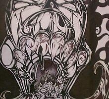expolsive skull.001. by Alabamaenoch