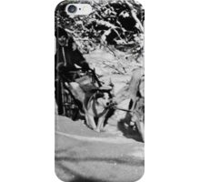 BW USA Alaska dog sled racing 1970s iPhone Case/Skin