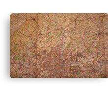 1945 vintage london map Canvas Print