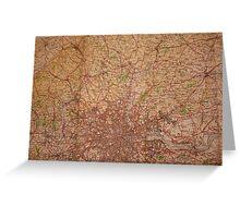 1945 vintage london map Greeting Card