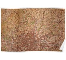 1945 vintage london map Poster