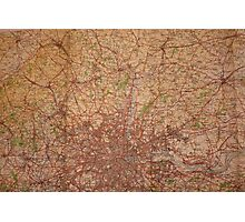 1945 vintage london map Photographic Print