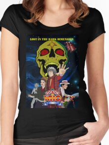 Doctor Who Lost in the dark dimension Women's Fitted Scoop T-Shirt
