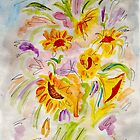 A Medley of Sunflowers by Anne Gitto