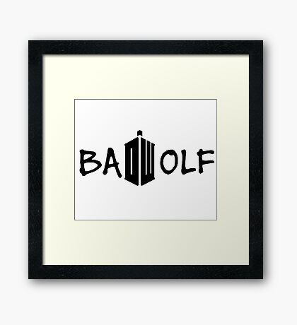 Doctor Who - Bad Wolf Framed Print