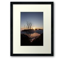 Winters morn' over Aberdeenshire Framed Print