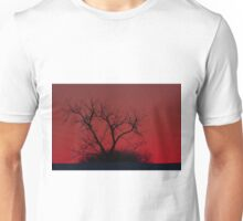 Red sky at night - Bare Tree Unisex T-Shirt