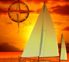 Sailboat Sunset Sticker