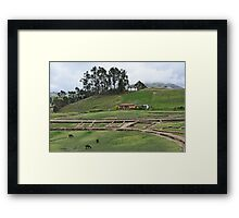 a beautiful Ecuador landscape Framed Print