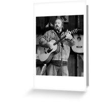 Folk Singer -Rick Novak Greeting Card