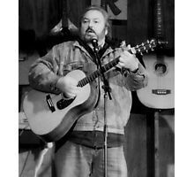 Folk Singer -Rick Novak Photographic Print
