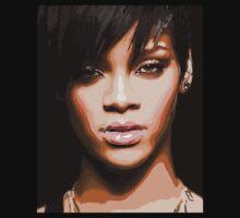 Rihanna Abstract Portrait Kids Tee