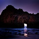 Sea Cave at Twilight by socalgirl