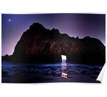 Sea Cave at Twilight Poster