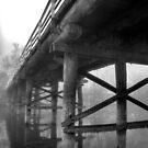 stock route bridge wodonga,black & white by dmaxwell