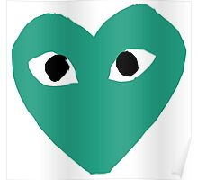 Comme des Garcons CDG Play Green Poster