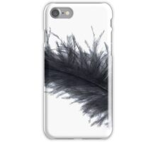Black feather iPhone Case/Skin
