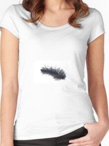 Black feather Women's Fitted Scoop T-Shirt