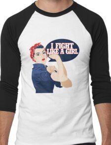 I fight like a girl Men's Baseball ¾ T-Shirt