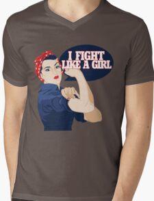 I fight like a girl Mens V-Neck T-Shirt