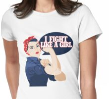 I fight like a girl Womens Fitted T-Shirt
