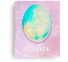Watercolor Birthstone Gems, October Canvas Print